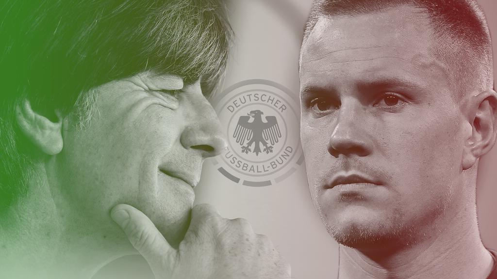 Joachim Löw (li.) hatte nach der Länderspielwoche gut lachen, Marc-André ter Stegen weniger