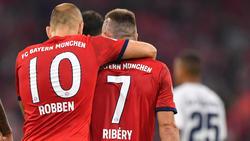 Arjen Robben (l.) und Franck Ribéry stehen vor ihrem letzten Bundesliga-Spiel für die Bayern