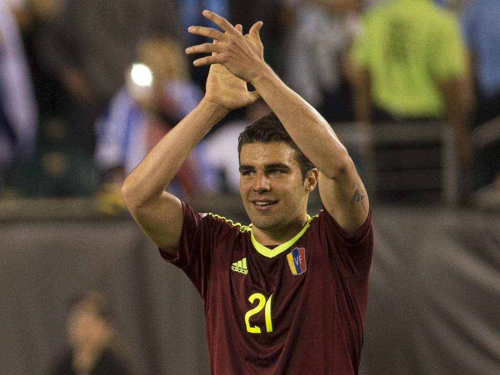 Alexander González con la selección venezolano en la Copa América. (Foto: Getty)