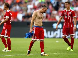 Franck Ribéry ilustra la imagen de la derrota de los bávaros. (Foto: Getty)