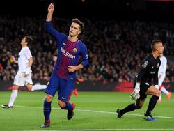 Denis celebra un tanto ante el Murcia en la Copa del Rey. (Foto: Getty)