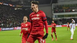 Kai Havertz besorgte den zweiten Bayer-Treffer vom Punkt