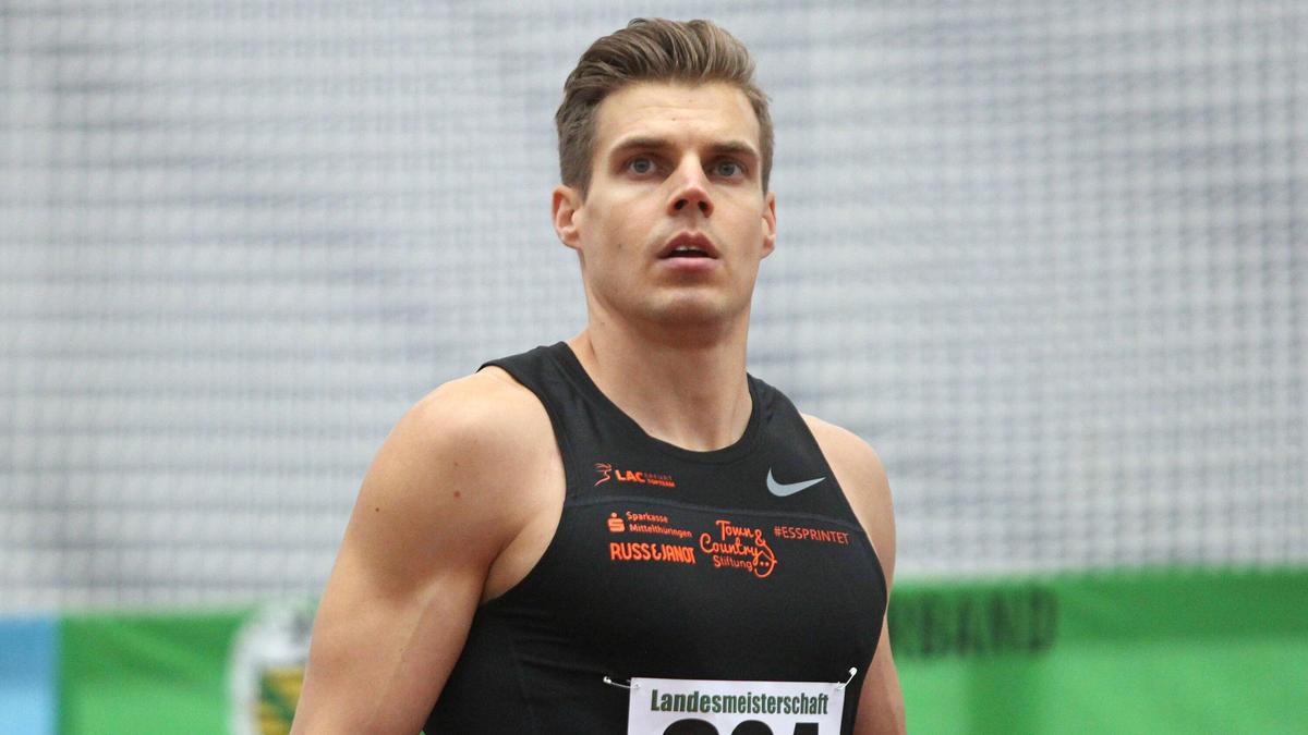 Julian Reus hat in Chemnitz die nationale Jahresbestleistung über 60 Meter auf 6,60 Sekunden verbessert
