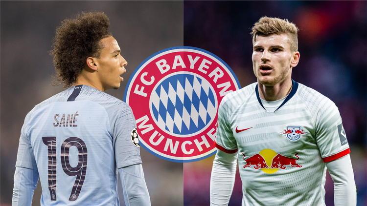 Leroy Sané und Timo Werner werden beim FC Bayern gehandelt