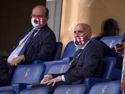 Pepe Castro, presidente del Sevilla, y Monchi sufrieron de lo lindo en semis.