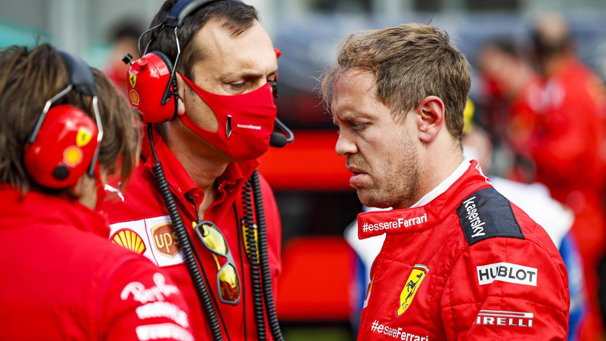 Am Boden: Ferrari und Sebatian Vettel