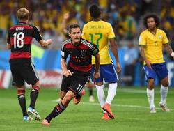 Miroslav Klose erzielte 2014 das zweite Tor gegen Brasilien