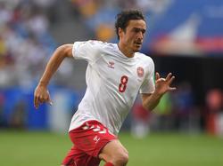 Noch für Dänemark in Russland, bald für den BVB am Ball: Thomas Delaney