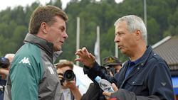 Dieter Hecking und Lucien Favre begegnen sich am 17. Spieltag im Top-Spiel