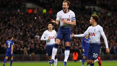 Harry Kane schoss die Spurs zum Sieg