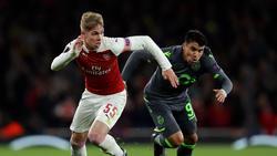 Smith-Rowe (li.) blickt auf vier Spiele in der Europa League zurück