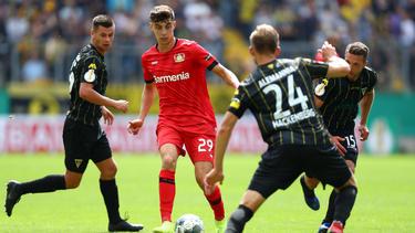 Kai Havertz war mit der Leverkusener Leistung nicht vollends zufrieden