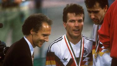 Franz Beckenbauer (l.) und Lothar Matthäus feierten 1990 die Weltmeisterschaft