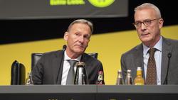 BVB-Finanzboss Thomas Treß (r.) neben Geschäftsführer Hans-Joachim Watzke