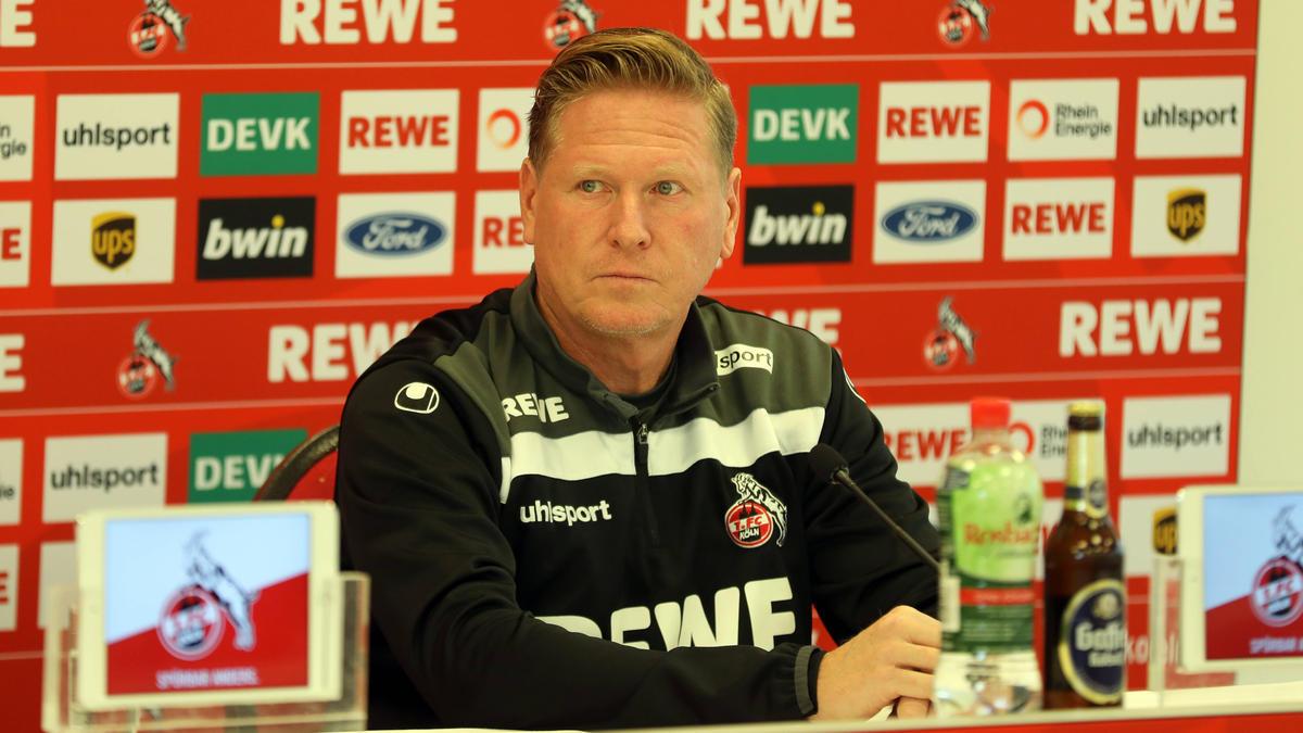 Schwere Zeiten für Markus Gisdol beim 1. FC Köln