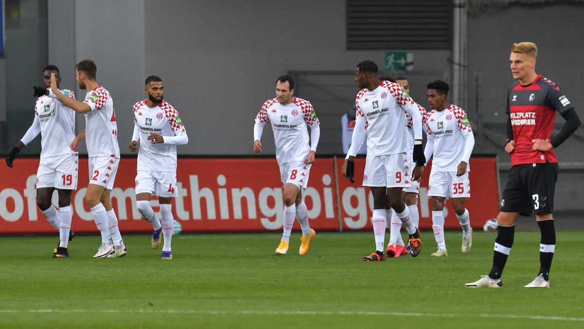 Mainz bejubelte alle drei Treffer in der ersten Halbzeit