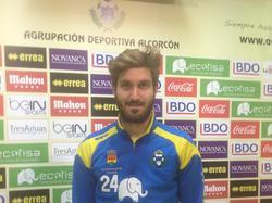 José Gómez Campaña, futbolista de la A.D. Alcorcón