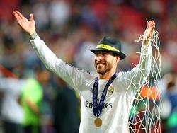 Sergio Ramos viert het winnen van de Champions League. Voetbal.com Foto van de Week. (24-5-2014)