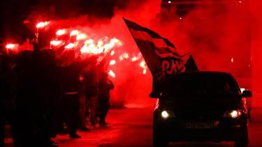 Die Fans von Zenit St. Petersburg empfingen ihr Team feurig