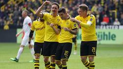 El BVB celebra la victoria en su feudo. (Foto: Getty)