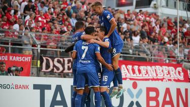 Hoffenheim ist mit Glück in die zweite Runde des DFB-Pokals eingezogen