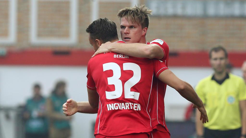 Die Spieler von Union Berlin freuen sich über den wichtigen Heimerfolg gegen Freiburg