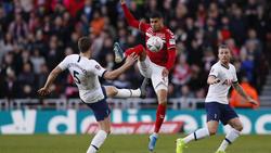 Die Spurs spielten gegen den FC Middlesbrough nur 1:1 und müssen nachsitzen