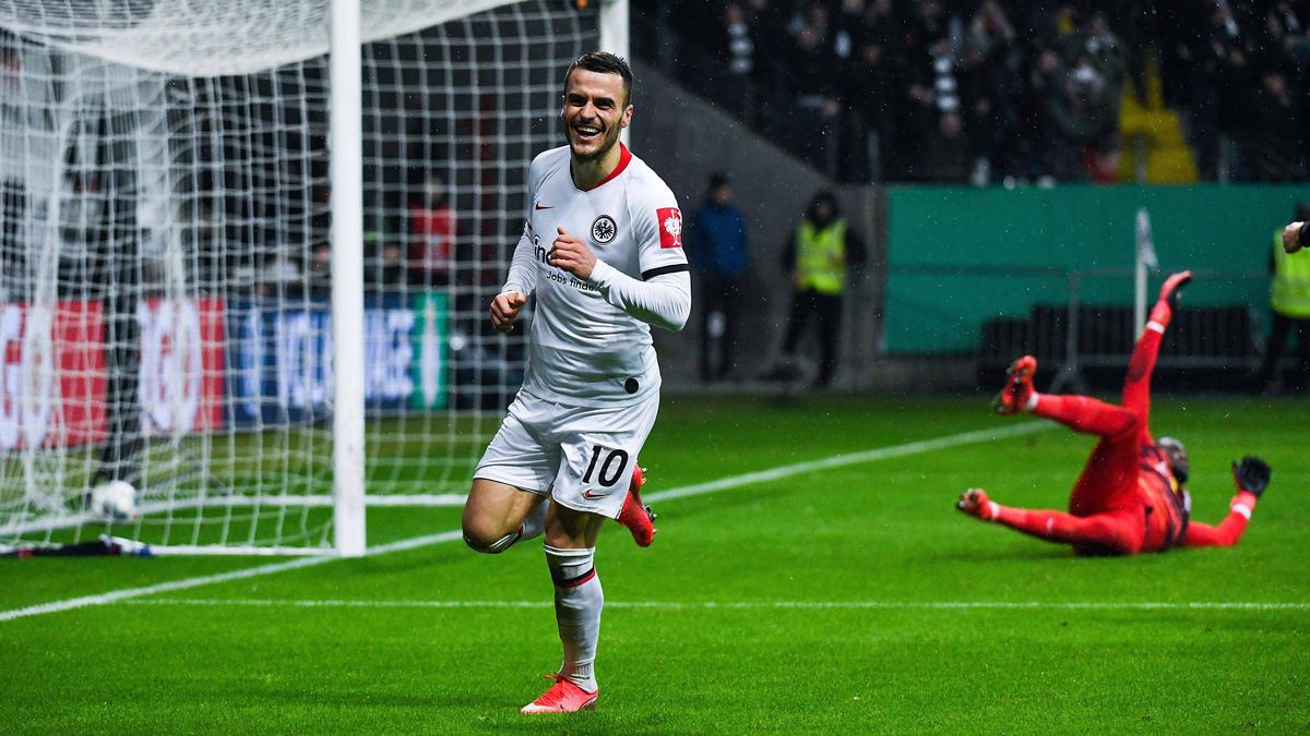 Traf im DFB-Pokal gegen RB Leipzig doppelt: Eintracht Frankfurts Filip Kostic