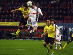Fliegende Spieler in Augsburg