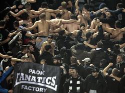 Die PAOK-Fans gelten nicht unbedingt als pflegeleicht