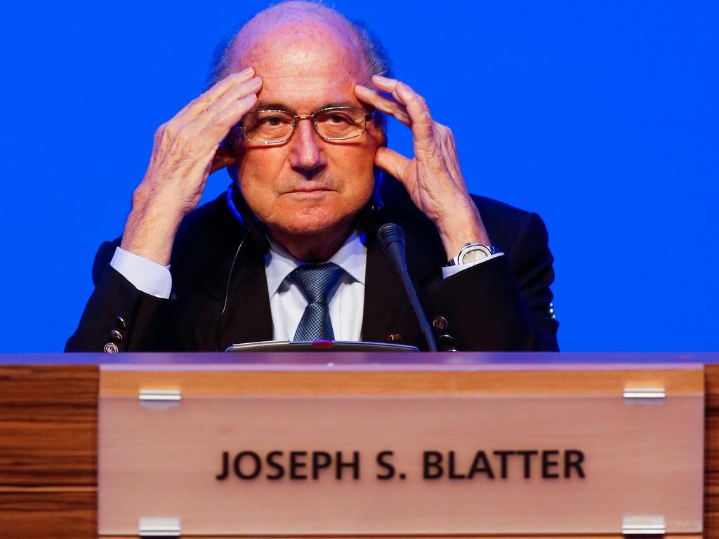 Sepp Blatter hält in Wien die Begrüßungsrede