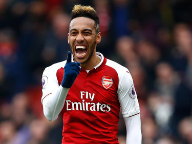 Pierre-Emerick Aubameyang celebra un gol con el Arsenal. (Foto: Getty)