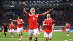 Cheryshev celebra un tanto en la Copa del Mundo. (Foto: Getty)