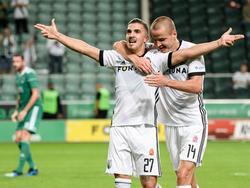 Carlos López marcó el 3-0 contra el Cork City. (Foto: Getty)