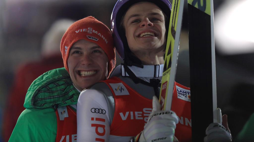 Stephan Leyhe (li.) feierte in Wisla den größten Einzel-Erfolg seiner Karriere