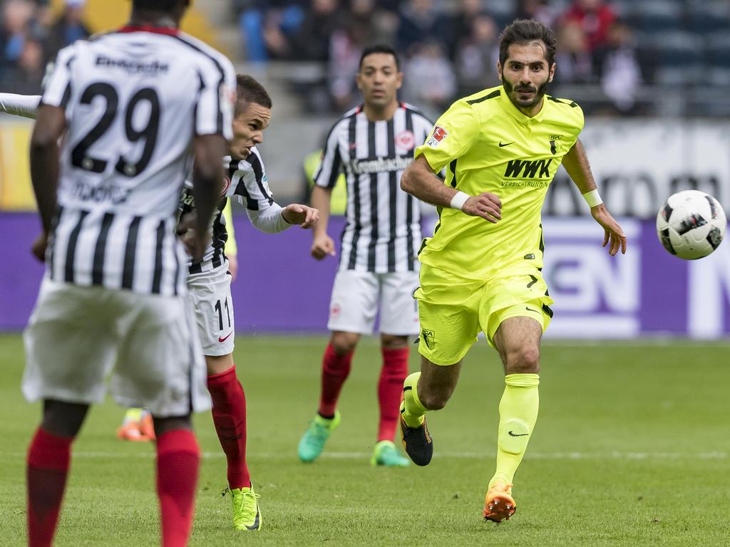Halil Altıntop unterlag am Ende mit dem FCA in Frankfurt