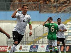 Jann-Fiete Arp schoss die U17 des DFB bei der EM zu einem neuen Vorrunden-Torrekord