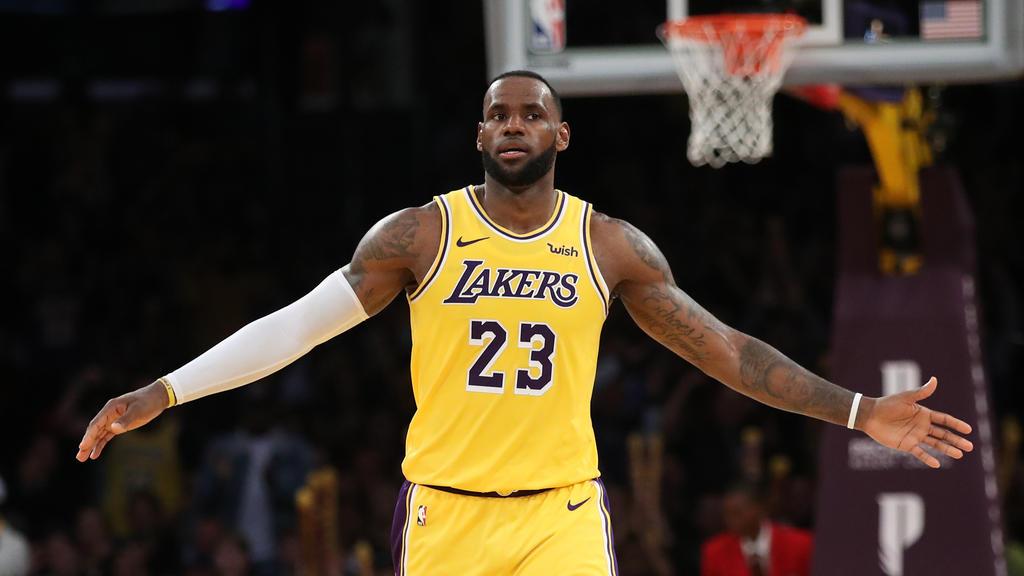 Auch in Zukunft mit der legendären Nummer 23: NBA-Superstar LeBron James