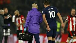 Verletzte sich am linken Oberschenkel: Harry Kane