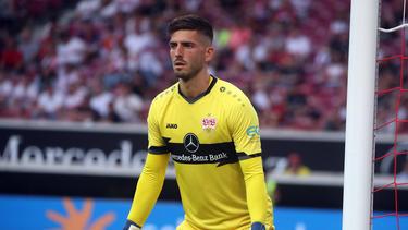 Sein Einsatz steht auf der Kippe: VfB-Keeper Fabian Bredlow