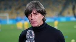 Bundestrainer Joachim Löw reagierte vor der Partie in der Ukraine auf jüngste Kritik an seinen Entscheidungen