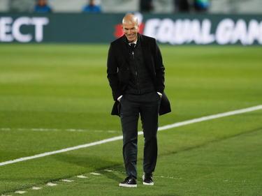 Zidane en un encuentro de la Liga de Campeones.