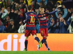 Neymar abrió el marcador en la vuelta de octavos ante el Arsenal. (Foto: Getty)
