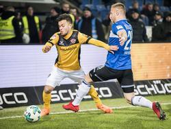 Sascha Horvath (l.) spielte bei Dynamo Dresden durch. © imago/Kirchner-Media
