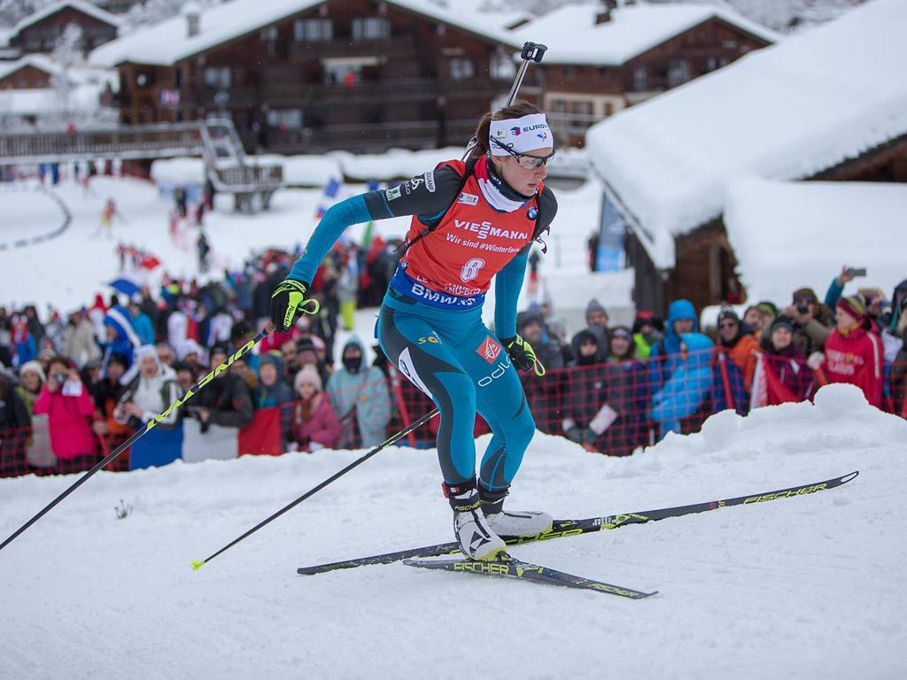 Justine Braisaz feierte ihren ersten Weltcup-Sieg vor heimischer Kulisse