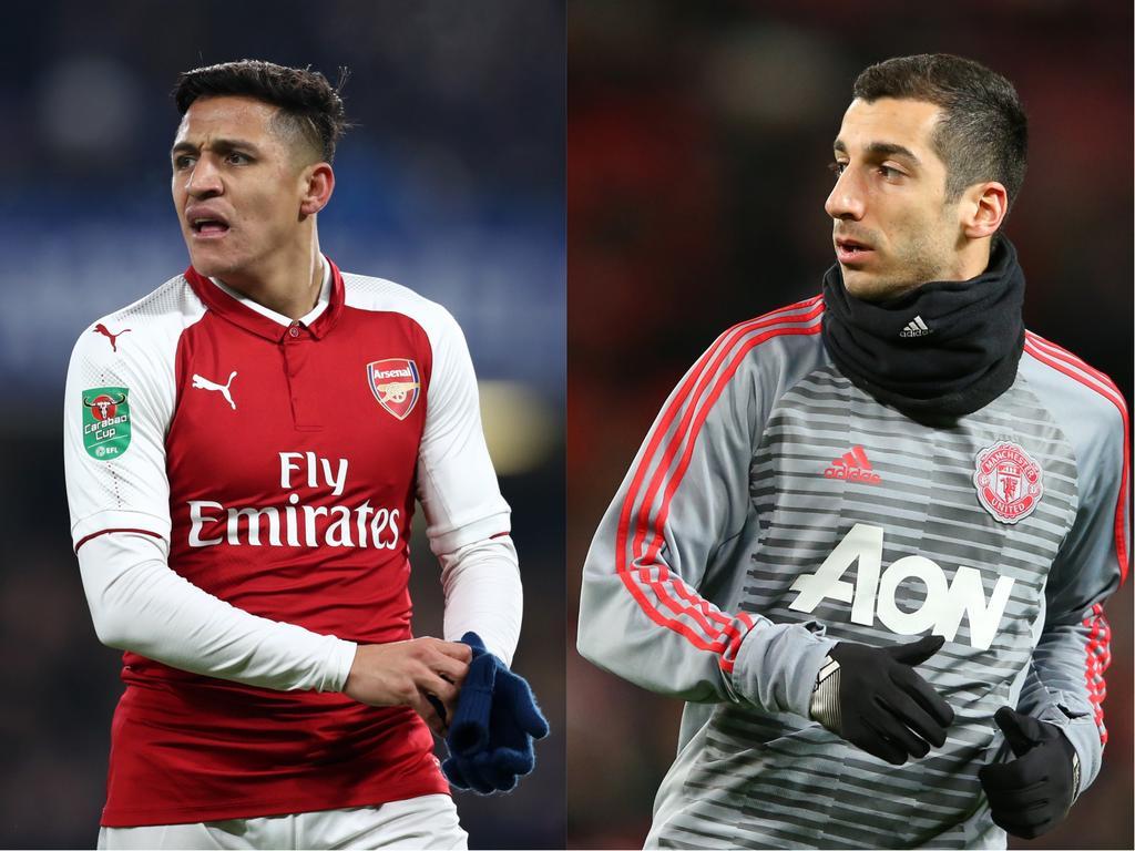 Sánchez (li.) und Mkhitaryan könnten den Verein tauschen
