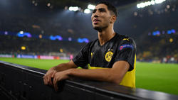 Achraf Hakimi llega amenazante al Camp Nou.