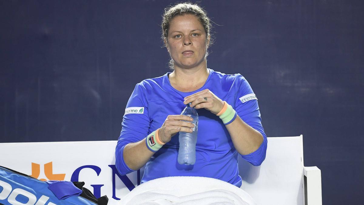 Kim Clijsters muss die vorzeitige Heimreise antreten