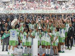 Party-Stimmung bei den Damen des VfL Wolfsburg