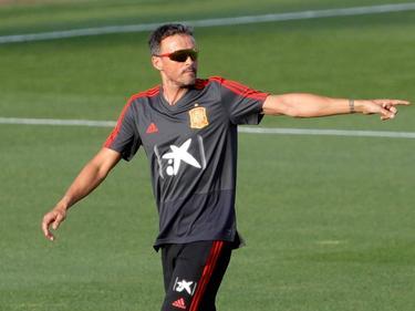 Luis Enrique en un entrenamiento con La Roja. (Foto: Getty)